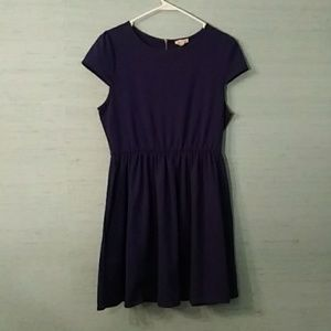 Royal Blue Cotton cap sleeve dress